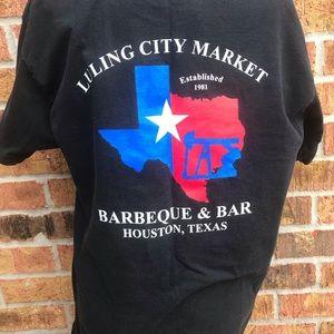 Luling City Market BBQ Bar Black Large T-Shirt